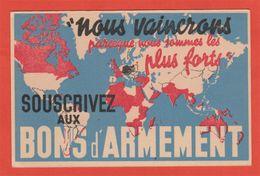 """WW2 Propagande 1939  Par Kap """"Nous Vaincrons Parceque Nous Sommes Les Plus Forts"""" Bons D'armement - Guerre 1939-45"""