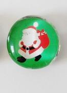Fève Miniature Effet Boule De Verre Père Noel - Dd - Non Classés