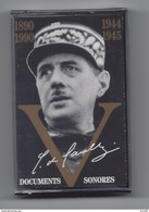 Document Sonore De Gaulle ( Les Grands Documents Sonores, Seconde Guerre Mondiale ) NEUF Sous Blister, Cassette Audio - Documents