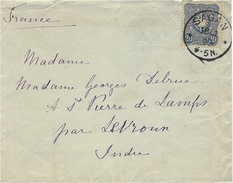 1890- Letter From SAGAN ( Zagan )fr. 20 Pf    To  France - ....-1919 Provisional Government