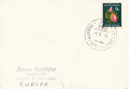 South Africa Card Sent To Austria Pretoria 7-1-1972 (tears At The Bottom Of The Card) - Covers & Documents