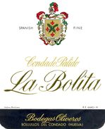 1406 - Espagne - Andalousie - Sherry Condado Palido - La Bolita - Bodegas Oliveros - Bollullos Des Condado - - Labels