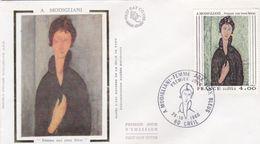 FDC France Modigliani Femme Aux Yeux Verts 1980 - 1980-1989