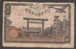 Banconota 50 SEN - Periodo 1942/44 - Circolata Con Molta Usura_W - Giappone