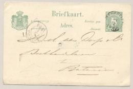 Nederlands Indië - 1887 - 5 Cent Briefkaart Van KR BENKOELEN Naar Batavia - Nederlands-Indië