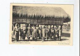 TYPES CAMBODGIENS ET HABITATION (BELLE ANIMATION) - Cambodge