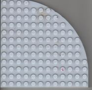 Coin De 12  X 12 Tenons, épaisseur 12 Mm,tenon Compris, Gris Clair - Lego
