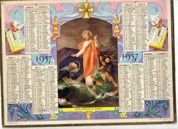 Almanach Des Postes Et Télégraphes1957 Jésus Apaisant La Tempête  - Aude - Calendriers