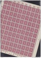 INFLA DR 158, Vollständiger Bogen (100 Marken), Postfrisch **, Plattennummer 4 - Deutschland
