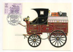 1988--Carte Maximun--Journée Du Timbre--Fourgon--timbre De Feuille - Cartes-Maximum