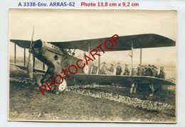 AVION Abattu-A3338-Env. ARRAS-PHOTO Allemande- Guerre 14-18-1 WK-AVIATION-FLIEGEREI-France-62- - 1914-1918: 1a Guerra