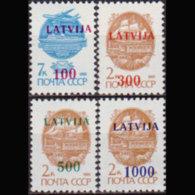 LATVIA 1991 - Scott# 308-11 Transport Surch. Set Of 4 MNH - Latvia