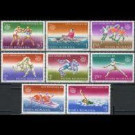 ROMANIA 1984 - Scott# 3202-9 Olympics Set Of 8 MNH - 1948-.... Republics