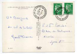 1972--Beau Cachet  Recette Rurale  38-LE SAPPEY EN CHARTREUSE--Marianne De Scheffer X 2--sur Carte Postale Col De Porte - Marcophilie (Lettres)