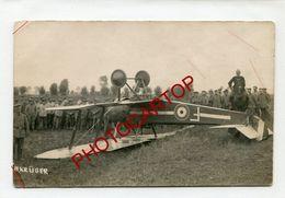 AVION Abattu-F-NON SITUEE-CARTE PHOTO Allemande-Guerre 14-18-1 WK-AVIATION-FLIEGEREI-France-Militaria- - 1914-1918: 1st War