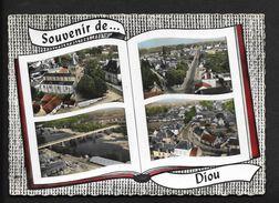 Diou ( Près De Dompierre Sur Besbre Et Moulins , Vichy ) CPSM / CP Vue Aérienne Multivues Allier 03 - Moulins