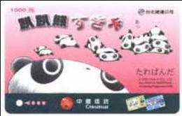 Taiwan Early Taipei Rapid Transit Train Ticket MRT Bear Cartoon (AD Of Chinatrust Bank) - Subway