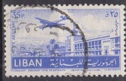 Libano, 1952 - 35p Khaldé International Airport - Nr.C170 Usato° - Libano