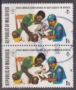 Maldive, 1973 - 1l  Scouts Treating Injured Lamb, Coppia - Nr.427 Usato° - Maldive (1965-...)