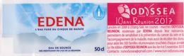 Etiquette - EAU De Source EDENA - ILE DE LA REUNION -  50 CL - Odessea  Cancer Du Sein- 10 Ans  L'Etang Salé - Etiketten