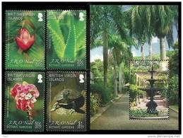 British Virgin Islands 2009 - Tortue, Fleurs, Jardin Botanique - 4v + 1 BF Neufs // Mnh - British Virgin Islands