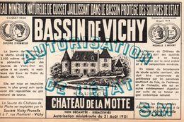 EAU MINERALE NATURELLE DE CUSSET, BASSIN DE VICHY - Labels