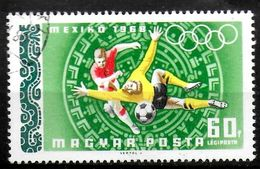 HONGRIE PA 302  Oblitere  Jo 1968 Football Soccer Fussball - Fussball