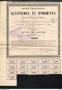 1885 Soc. Continentale De Glycerines Et Dynamites - Aandelen