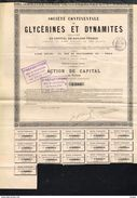 1885 Soc. Continentale De Glycerines Et Dynamites - Zonder Classificatie