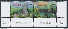 """BOSNIA/Bosnien Kroatische Mostar, EUROPA 2017 """"Castles"""" Set Of 2v** - 2017"""