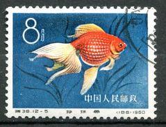 """VR China 1960 Mi.Nr.538 """"Zuchtformen Des Goldfisches,Perlen Schuppe""""1 Wert Used,gestp. - 1949 - ... République Populaire"""