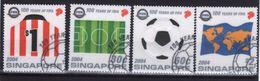 Singapore Set Of Stamps To Celebrate Centenary Of Football Association. - Singapore (1959-...)