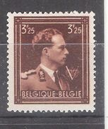 BELGIQUE 1943 ,Leopold III Yvert N° 645 ,3 F 25 Brun , Neuf ** / MNH, TB - 1936-1957 Open Collar