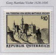 PIA  -  AUTRICHE -  1996  : 300° Della Morte Del Cartografo Georg Mattheaus Vischer - Castello Di Kollimitz  (Yv 2014) - 1945-.... 2ª República
