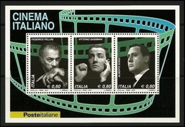 """ITALIA REP.  -  2010  -  """" CINEMA ITALIANO  """"  Foglietto  - Nuovo **  -  Cat. ? € - Blocchi & Foglietti"""
