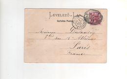 Timbre Yvert N° 70 Sur Carte , Postcard De Fiume Le 31/1/00 , Beau Cachet ABBAZIA Pour La France - 1850-1918 Empire
