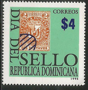 1995.Dominican Republic Dominicana Stamp Day Stamp On Stamp Complete Set Of 1  MNH - Repubblica Domenicana