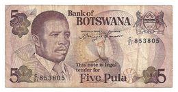 Botswana, 1992 Five Pula, Fine Condition. Hard Item, Highly Valued... - Botswana