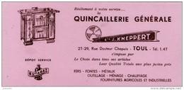 Buvard - QUINCAILLERIE Generale Chauffage Cuisinière Ets KNEPPERT - TOUL - - Buvards, Protège-cahiers Illustrés