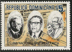 1996.Dominican Republic Dominicana National Journalist Day  Newspapers Complete Set Of 1  MNH - Repubblica Domenicana