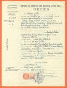 52 Dommarien - Généalogie - Extrait Acte De Décès En 1961 - Timbre Fiscal - VPAN 3 - Avvisi Di Necrologio