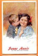 ALB438, Bonne Année, K. Feiertag, Enfants, Fantaisie, B. K. W. I. 665 , Circulée 1921 - Feiertag, Karl