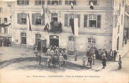 68-DANNEMARIE- VISITE DU PRESIDENT DE LA REPUBLIQUE - Dannemarie