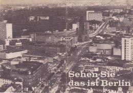 """Fascicule 16 Pages, 10 X 14 """"Sehen Sie, Das Ist Berlin"""" Présentation Berlin Après Guerre & Jusqu'à Construction Du Mur - Livres, BD, Revues"""