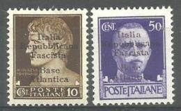 BASE ITALIENNE De BORDEAUX . Base Atlantica  N°1+N° 6  -1943 - - Wars