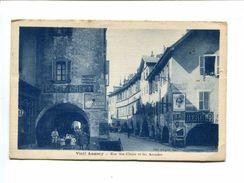 Cp - Vieil ANNECY (74) - Rue Ste Claire Et Les Arcades (Pub. Anis Berger LU Société Générale Vixa...) - Annecy