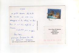 """Timbre """" Jubilé De 2008 """"  Sur Carte , Postcard   , Pour La France - Nepal"""