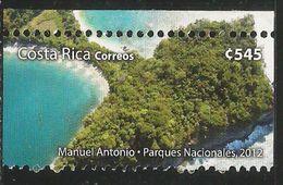 2012 Costa Rica National Park Beach Complete Set Of 1  MNH - Costa Rica