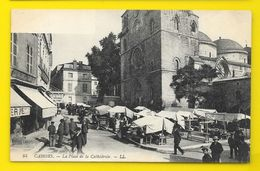 CAHORS Rare La Place De La Cathédrale Sans Texte Dans Cadre Sup. Gauche (LL) Lot (46) - Cahors