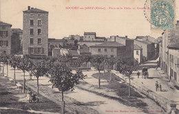 69 . Rhone :  Soucieu En Jarez :  Place De La Flette  Et Grande Rue  . - France